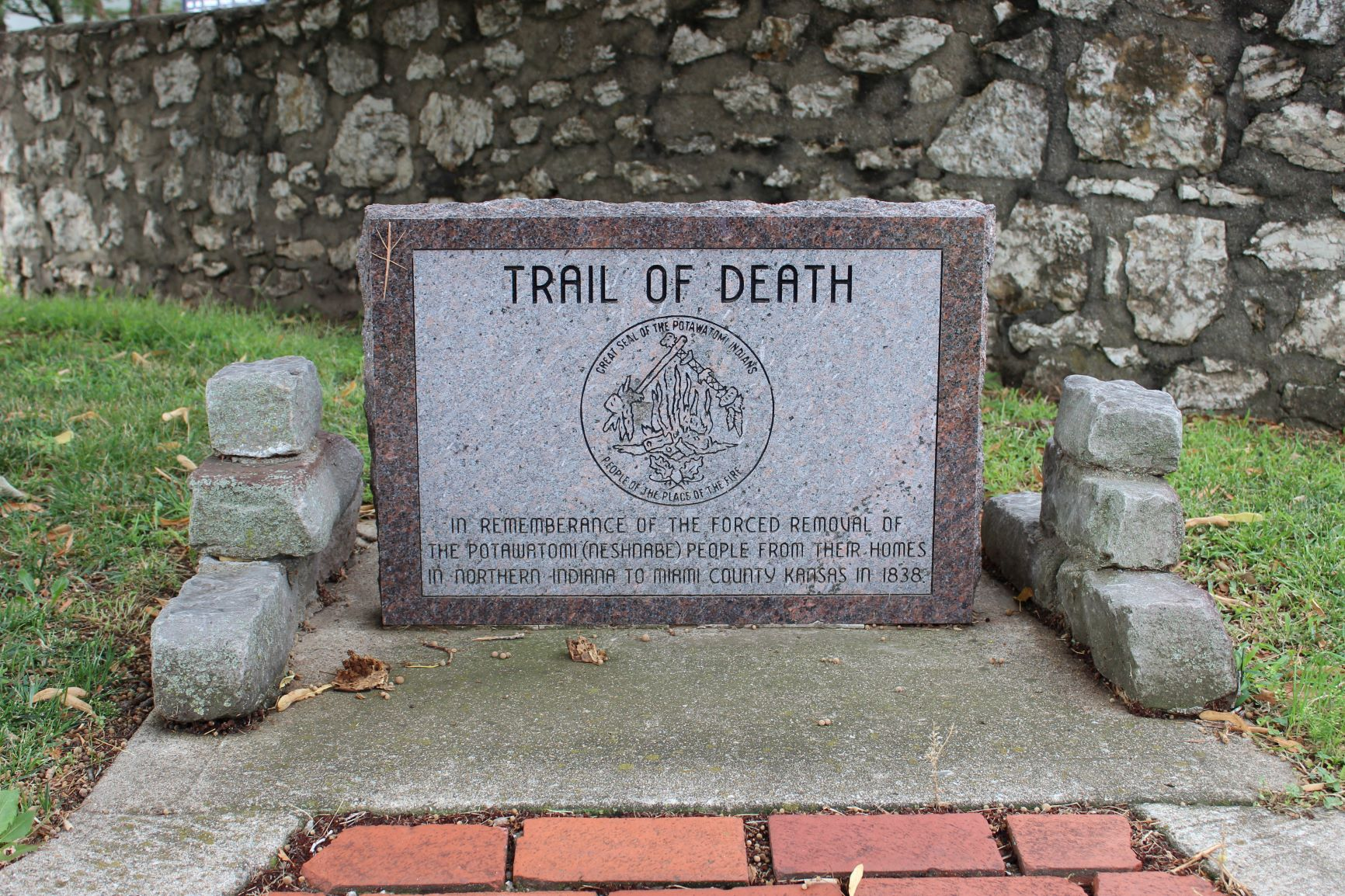 Trail of Death memorial
