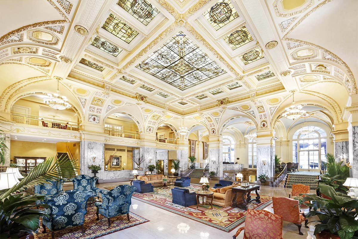 Hotel lobby. Credit: The Hermitage Hotel
