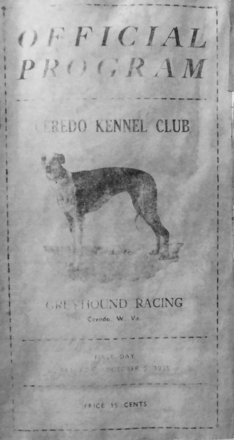 The property first came to attention in the 1920s when it became home to a very successful but short-lived greyhound racing track. Image courtesy of the Ceredo Historical Society Museum.