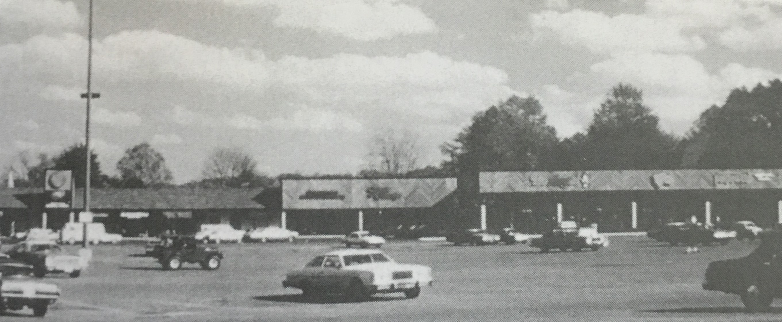 The plaza shortly after its opening in 1976. Image courtesy of the Ceredo Historical Society Museum.