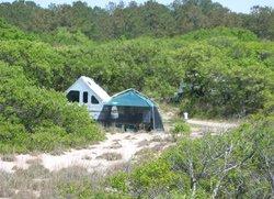 Beach campsite at First Landing