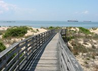 Boardwalk to beach at First Landing State Park