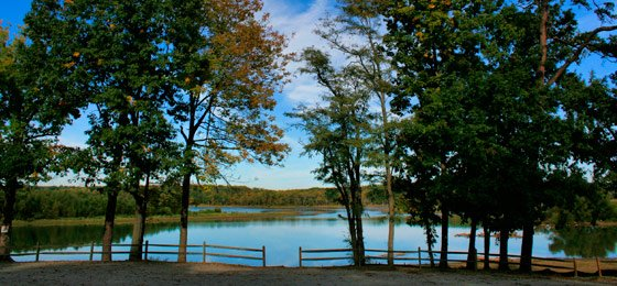 View of Buggs Island Lake in Staunton River State Park.