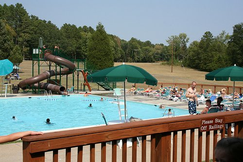 One of Staunton River State Park's three pools.