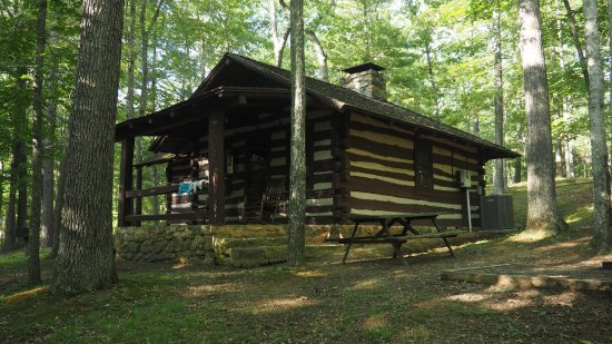 Example of the cabins in Douthat State Park