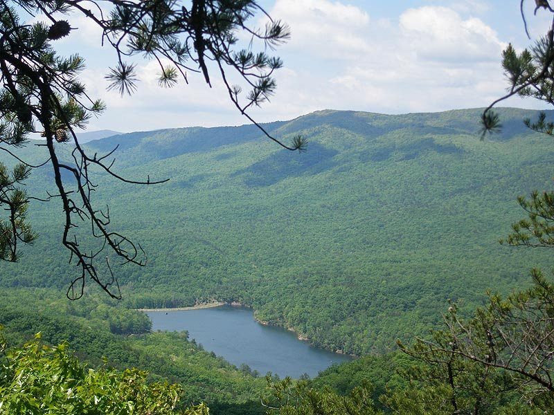 Scenic views inside Douthat State Park