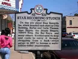 Historic Marker- Where Stax Record Company originally stood