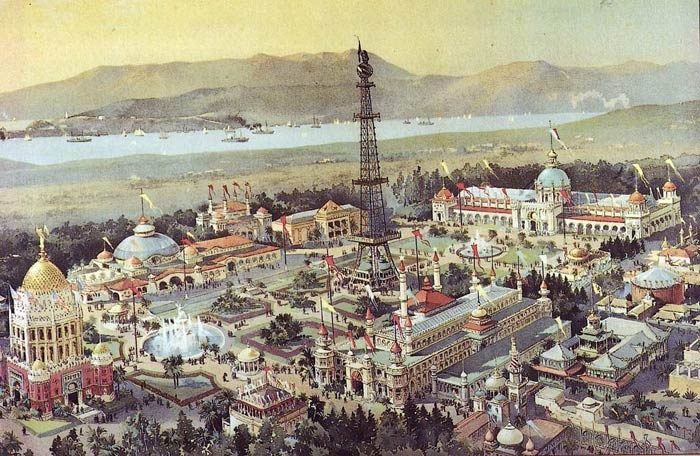 Chromolithograph by Charles Graham of the California Midwinter International Exposition in Golden Gate Park held in 1894