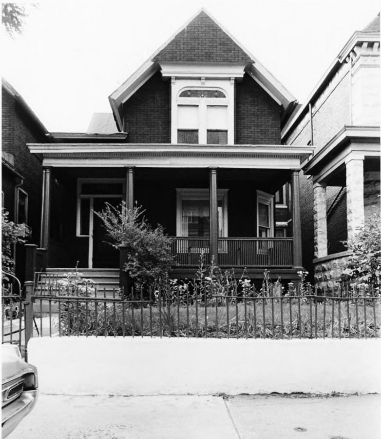 "This early, 20th century house was constructed using the ""Queen Anne"" architecture style."