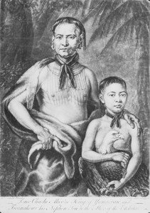 Tomo Chi-Chi and his Nephew Toonahowi during their visit to London. Painted by William Verlest. Retrieved from the Foltz Photography Studio Photograph Collection https://georgiahistory.pastperfectonline.com/photo/81E62241-495F-42C9-BA8D-2053