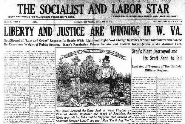 The May 30, 1913 paper, the first published after the raid on May 9. In all the confusion that month, the date was mistakenly printed as 1912. Image obtained from the Library of Congress.