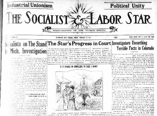 Socialist and Labor Star paper in 1914. Image obtained from the Library of Congress.
