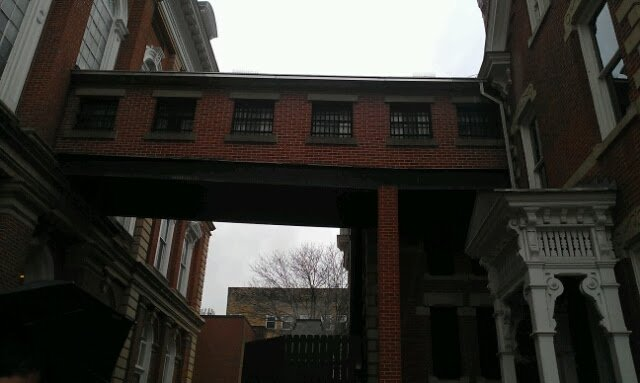 The bridge that connects the Old Courthouse to the Old Indiana County Jail.