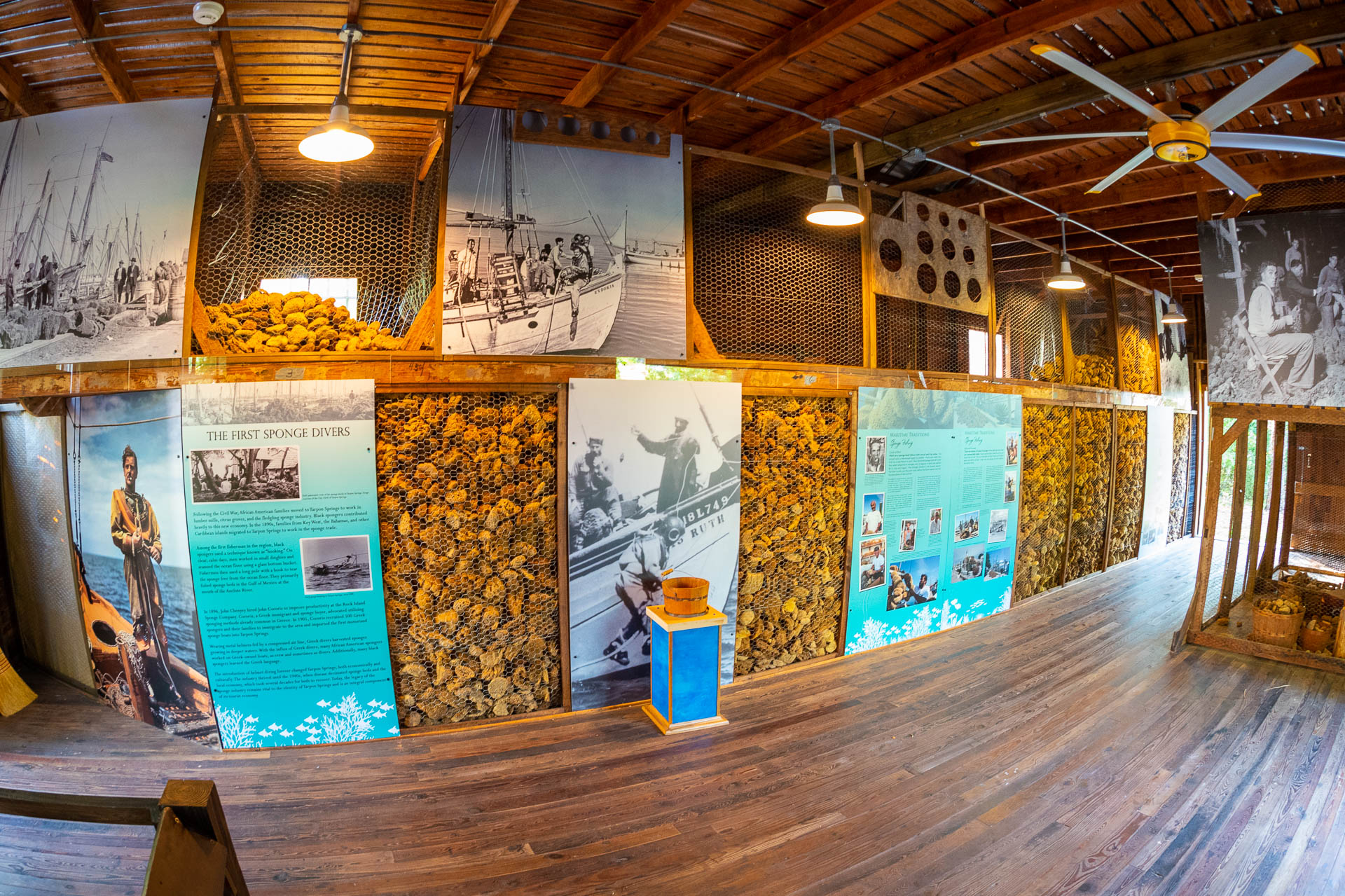 Exhibit within the Sponge Warehouse