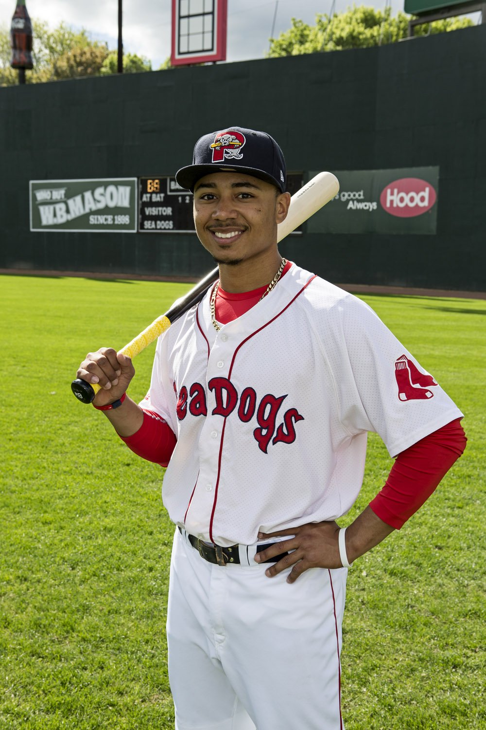 Mookie Betts former Sea Dogs player who now plays for the Boston Red Sox