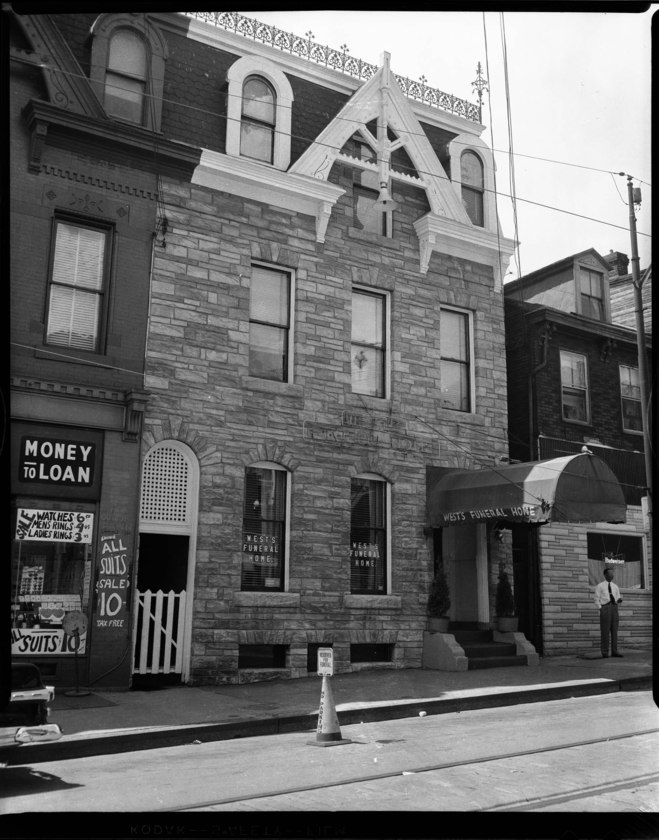 Exterior of West Funeral Home (1957)