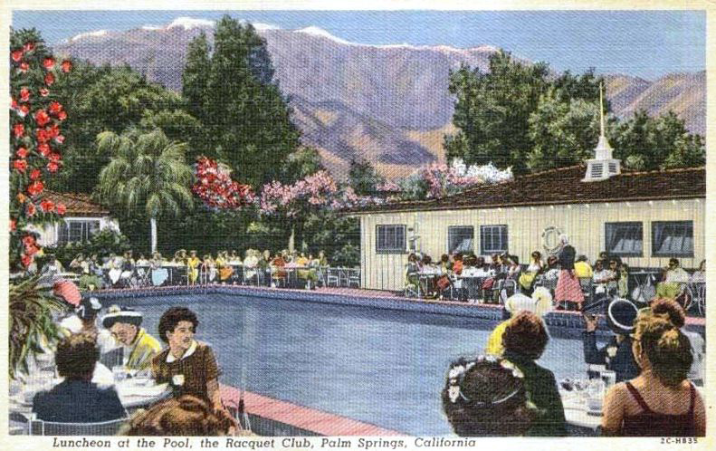 A mid-1950s postcard from the Racquet Club