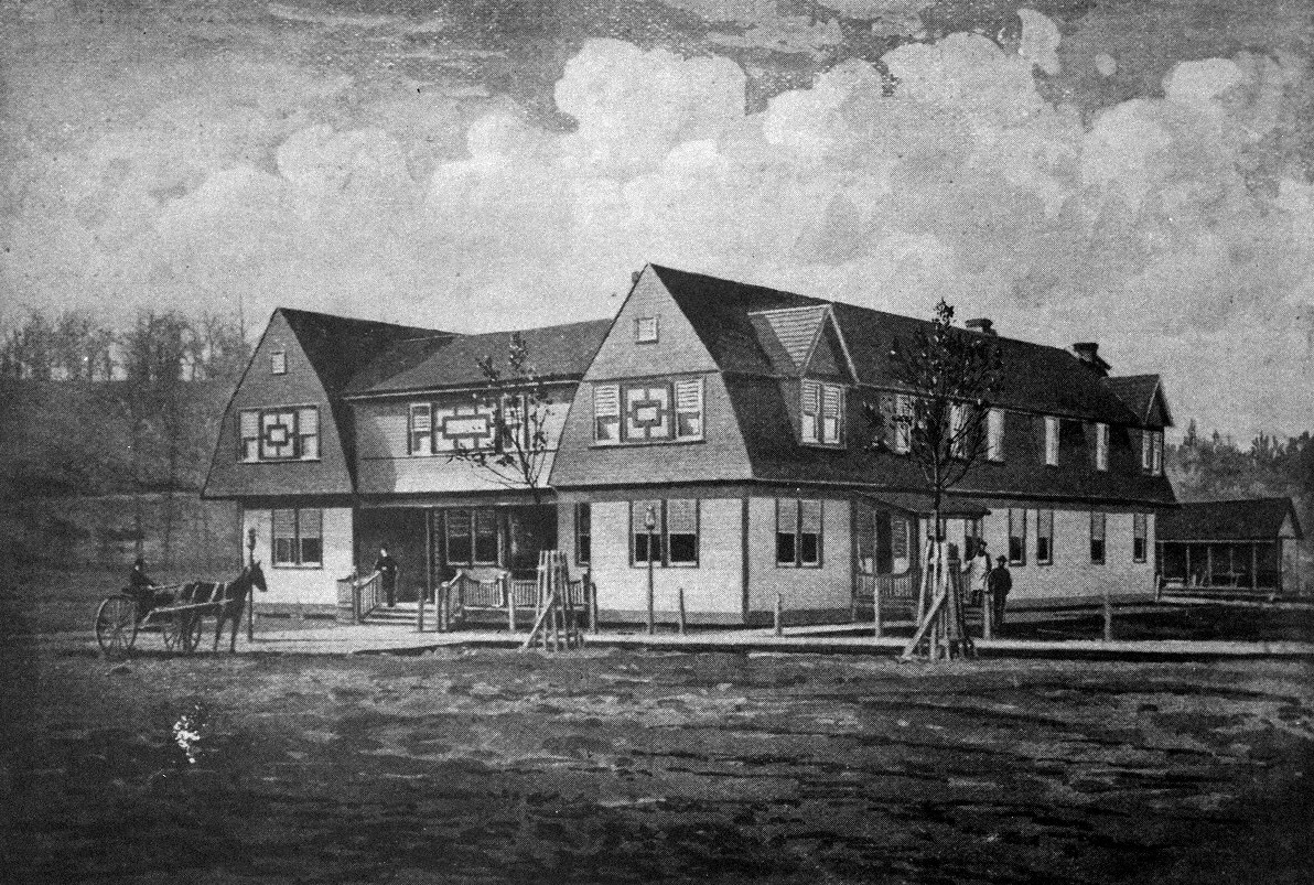 Prior to the completion of the Glenwood, this smaller frame hotel operated on 15th and Sycamore Streets for much of the 1890s before burning down in 1900. Image courtesy of the Kenova Historical Commission.