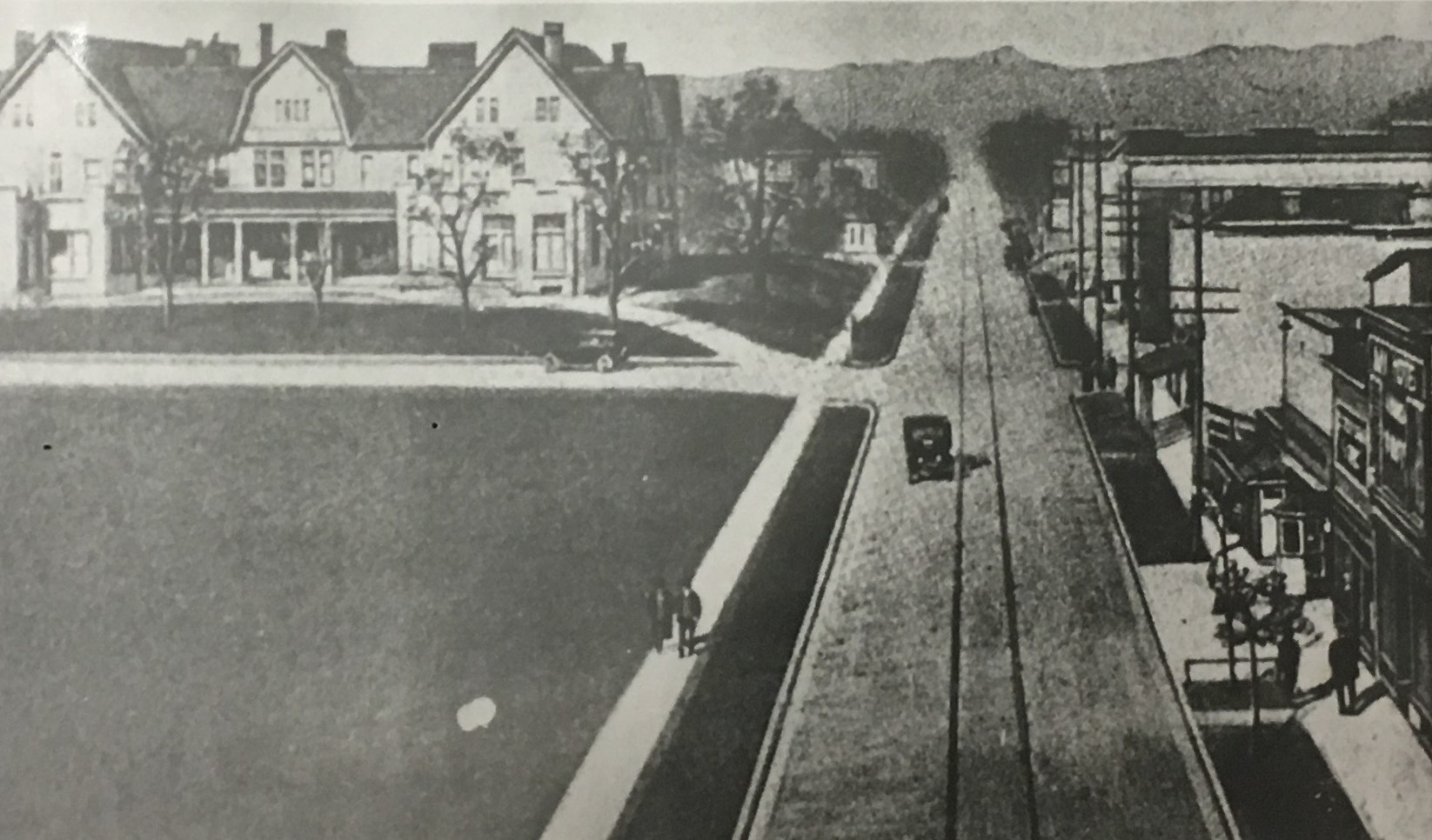 Depiction of the Glenwood as seen from Chestnut Street. Image courtesy of the Kenova Historical Commission.