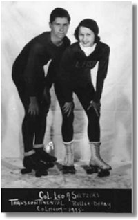 Roller Derby Teammates, Clarice Martin and Bernie McKay (88.22.2)