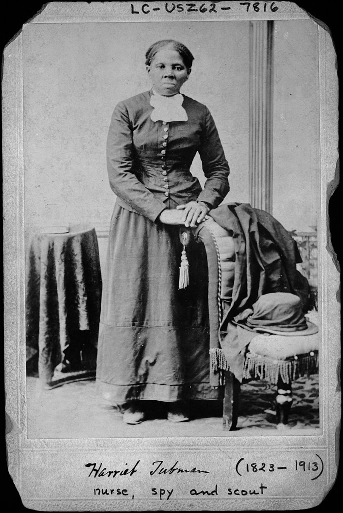 A portrait of Harriet Tubman.