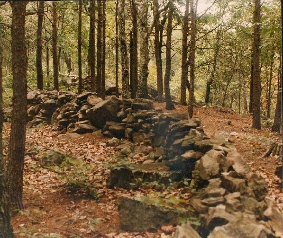 The rock wall formation as it is seen today if you would visit the park