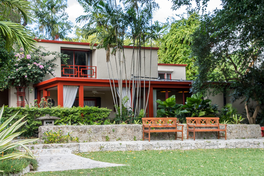 The Fairchild-Sweeney House: designed by architect Edward Clarence Dean as a combination of Spanish and Southeast Asian influences. Credit: Don Baird