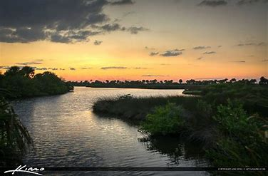 sunset at Mosquitto Lagoon