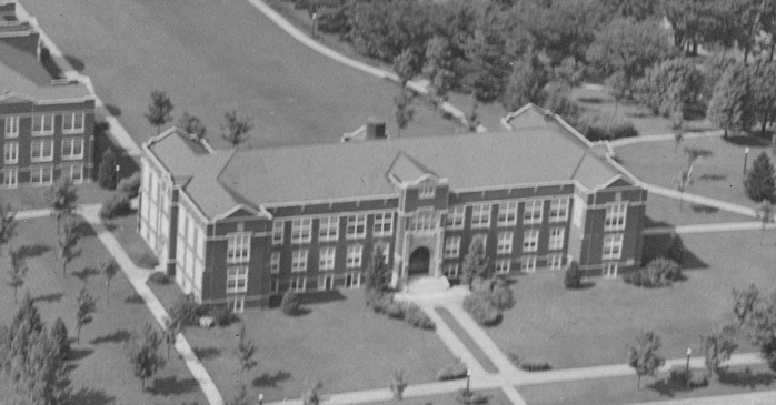 Aerial view of Montgomery Hall