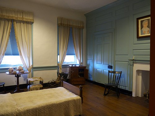 One of the bedrooms located in Trout Hall.