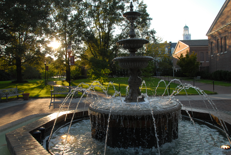 Fulton Hall Fountain, 2009