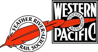 Image of the logos of the Western Pacific Railroad Museum and the Feather River Rail Society.