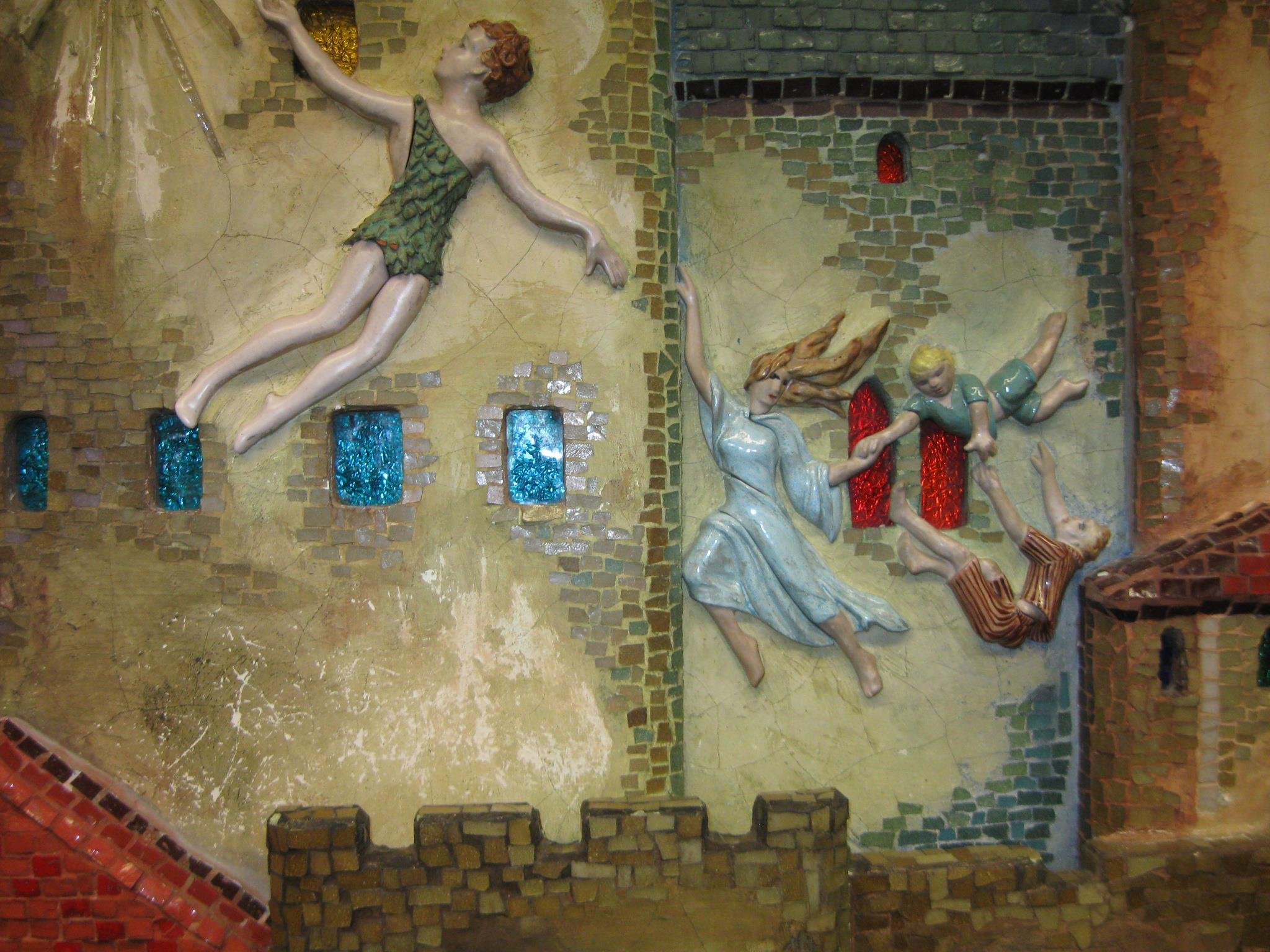 Storybook Castle, Josephine Mather Aull, ceramic mural detail.