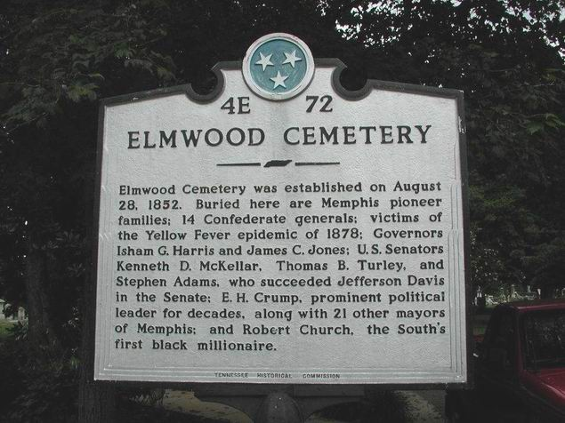Elmwood Cemetery Historic Marker