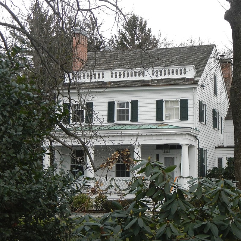 A close up view of the Masterton-Dusenberry House.