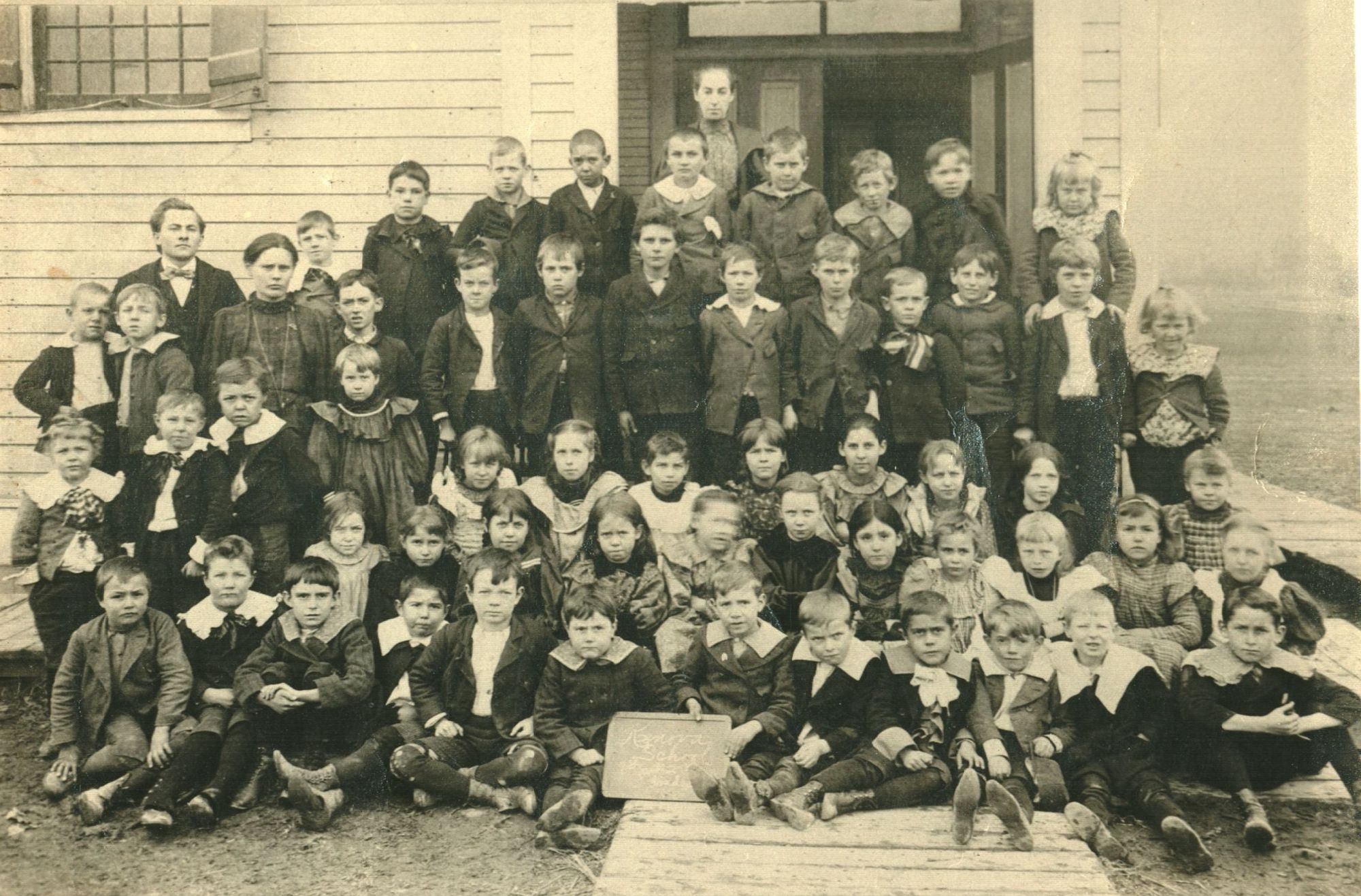 Third Grade Kenova Elementary School class in 1899. The teachers are identified as W. W. Smith and Betty Lambert. Image courtesy of the Ceredo Historical Society Museum.