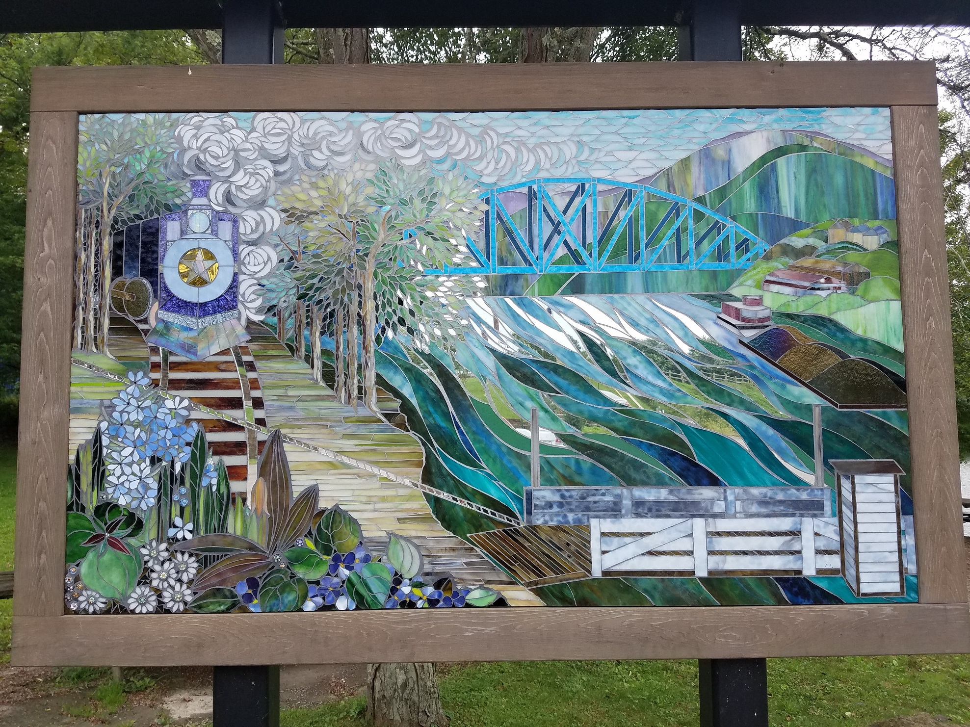 Star City Riverfront History Mural.