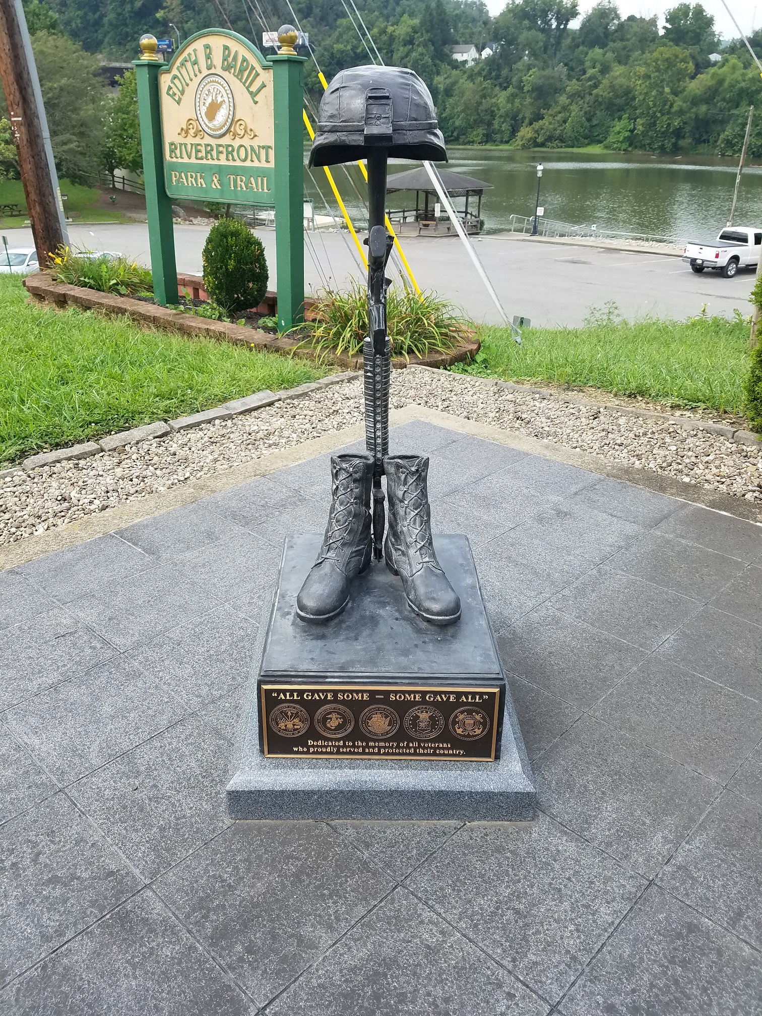 """""""All Gave Some, Some Gave All"""" memorial."""