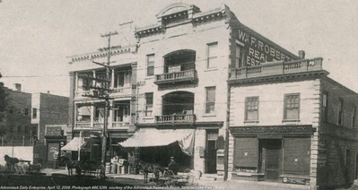 Fowler Block (middle, c. 1900)