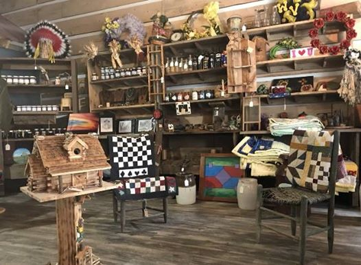 A look at the museum and shop's floor display.