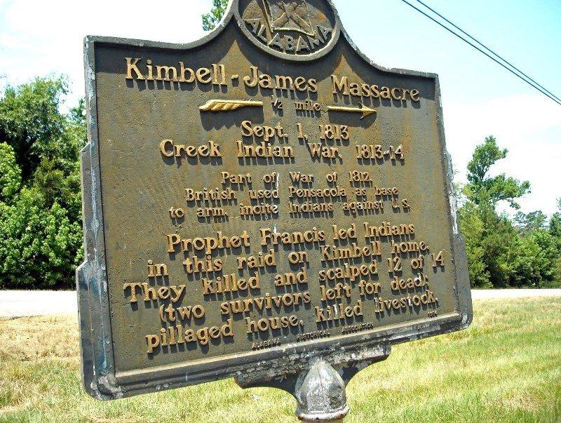 Kimbell-James Massacre Marker