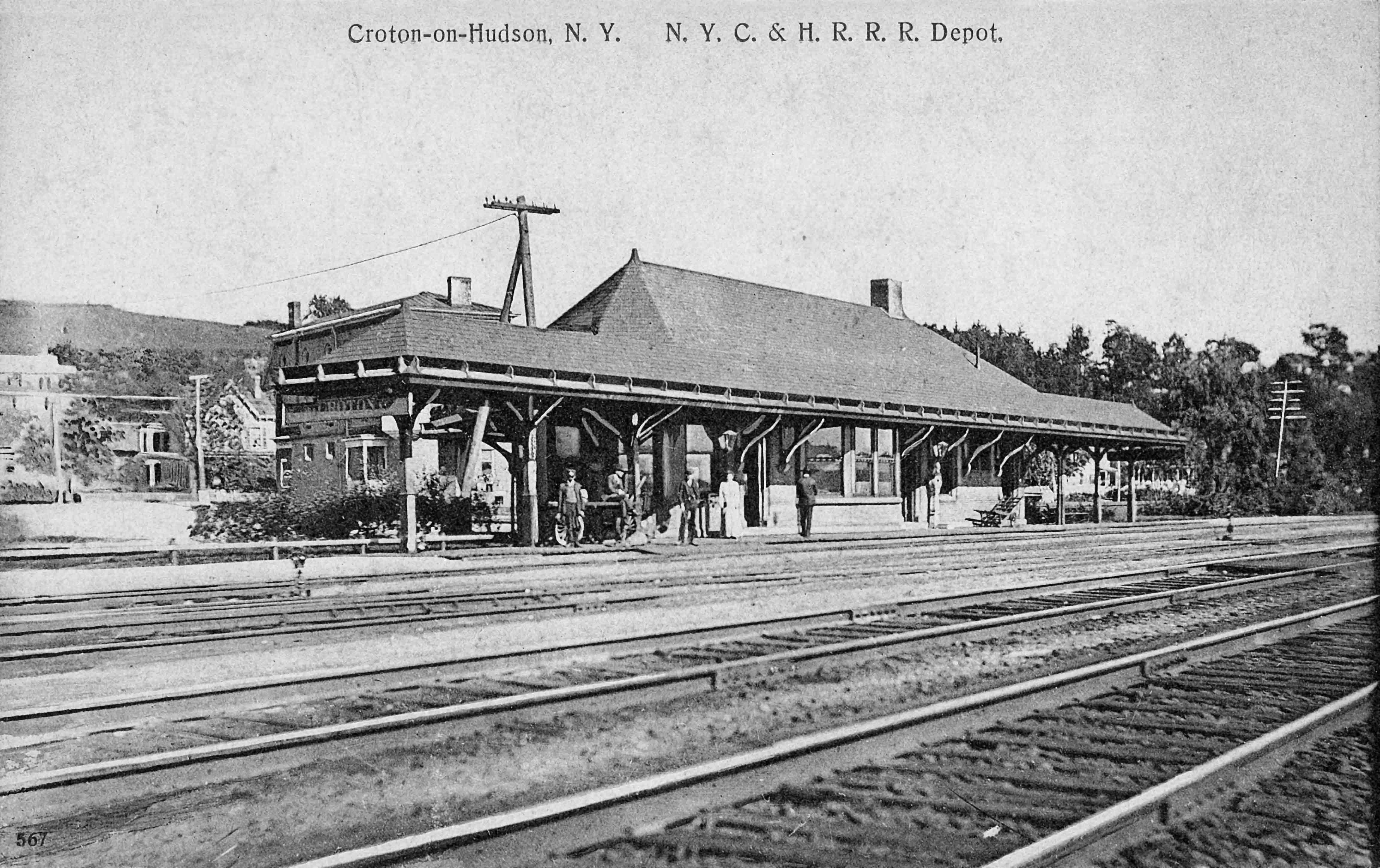 A 1905 postcard of Croton North Station.