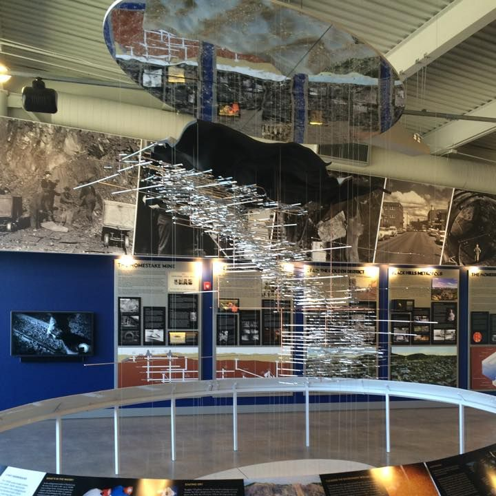 The visitor center features exhibits that explore Lead's mining history and the Sanford Laboratory.