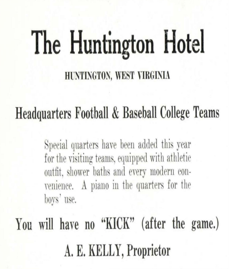 Ad for the hotel from 1917