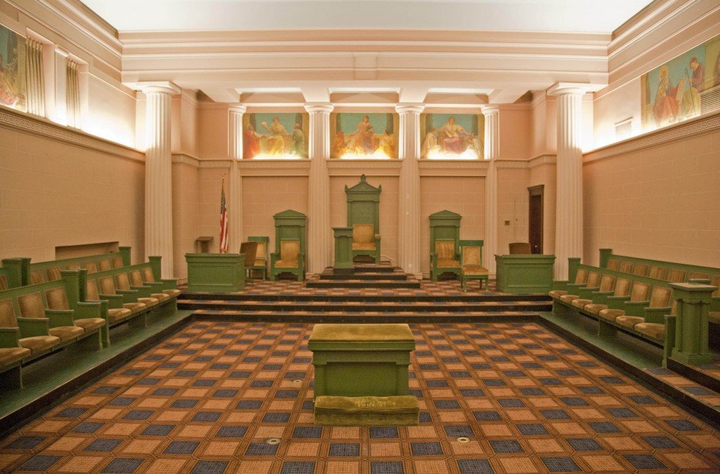 Doric Hall within the Allentown Masonic Temple.