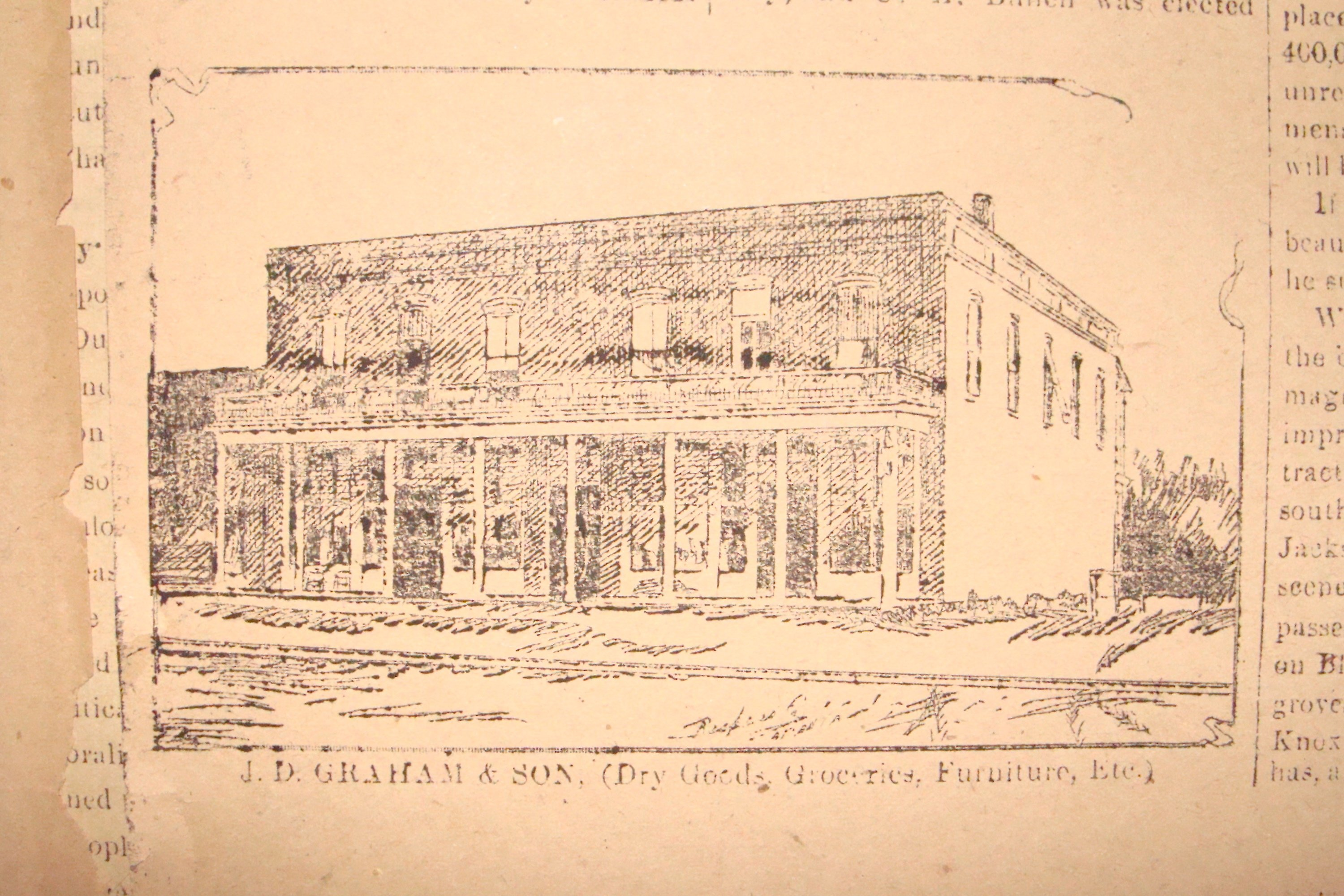 JD Graham & Son General Store located on East Graves Avenue, advertisement in the Orange City Dispatch. April 14, 1894. Florida Historical Society.