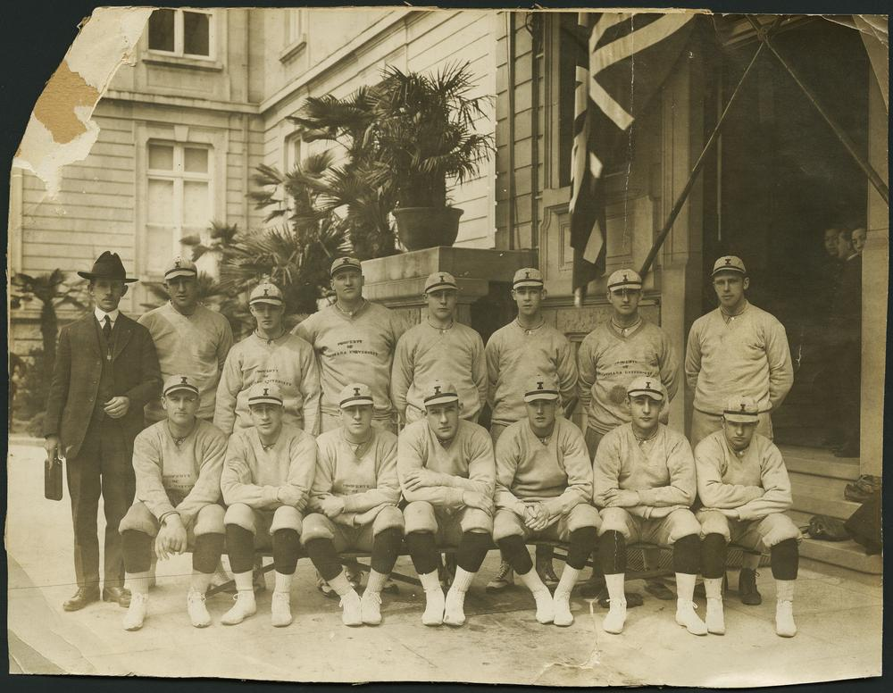 IU Baseball during their trip to Japan in 1922.
