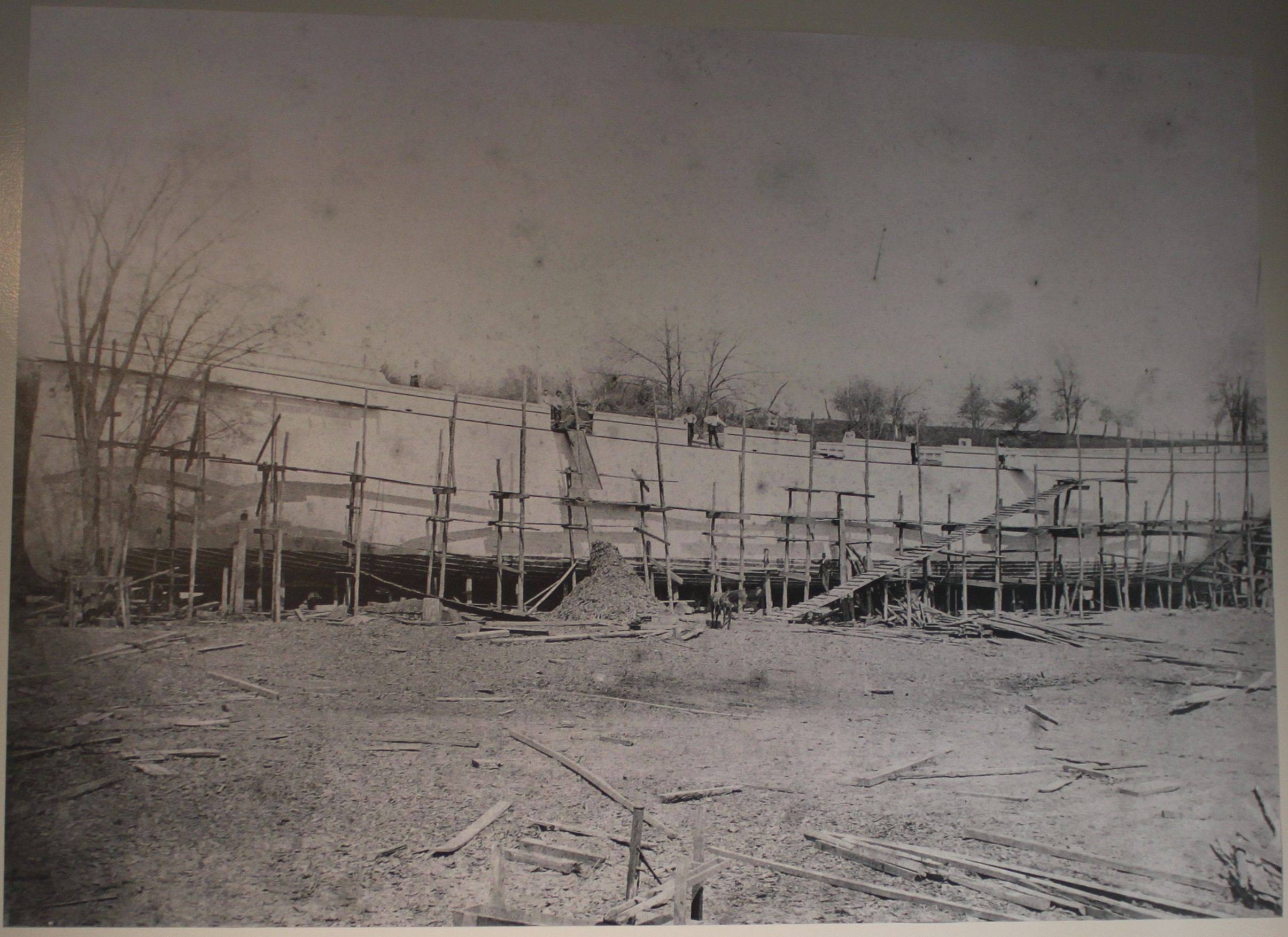 """Golden Age"" under construction at Fries Landing 1883"