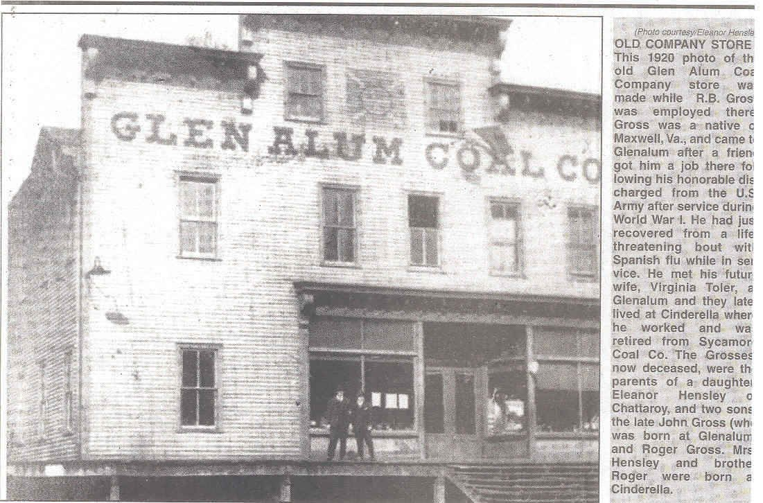 The Glen Alum Coal Company Store.