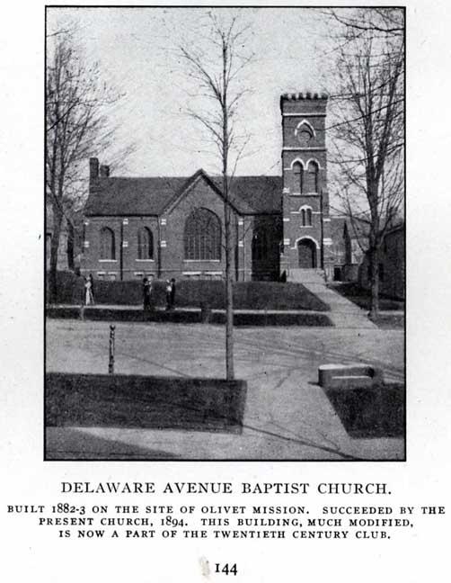 Image of the original Delaware Avenue Baptist Church.